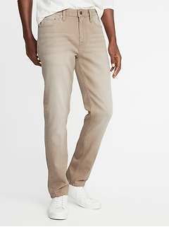 Slim Built-In Flex Khaki-Wash Jeans for Men