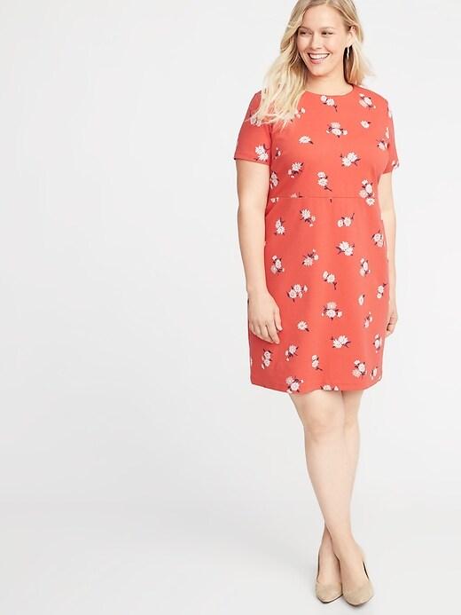 Plus-Size Ponte-Knit Sheath Dress