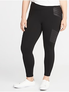High-Rise Plus-Size 7/8-Length Moto Street Leggings