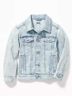 Stone-Washed Denim Jacket for Boys