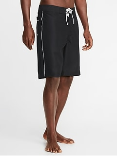 Side-Piping Board Shorts for Men - 10-inch inseam