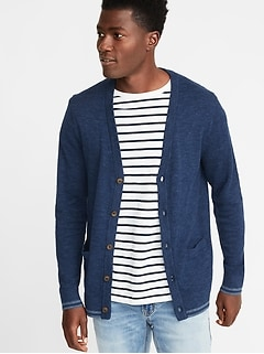Classic Button-Front Cardigan for Men