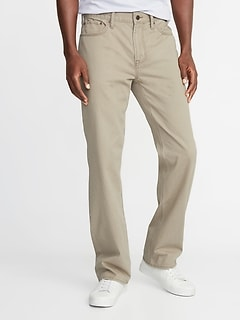 Loose Twill Five-Pocket Pants for Men