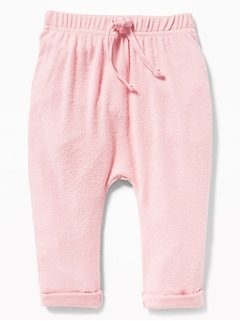 Plush-Knit Jersey Pants for Baby