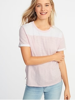 Boyfriend Color-Block Tee for Women