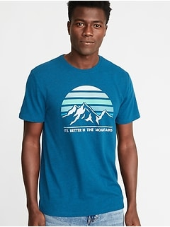Graphic Soft-Washed Tee for Men