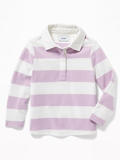 Bold-Stripe Rugby for Toddler Girls