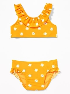 Printed Ruffle Bikini Swim Set for Toddler Girls