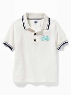 Graphic Pique Polo for Toddler Boys
