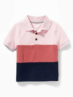 Color-Blocked Polo for Toddler Boys