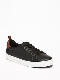 Old Navy Faux-Leather Boys Sneakers (Black)