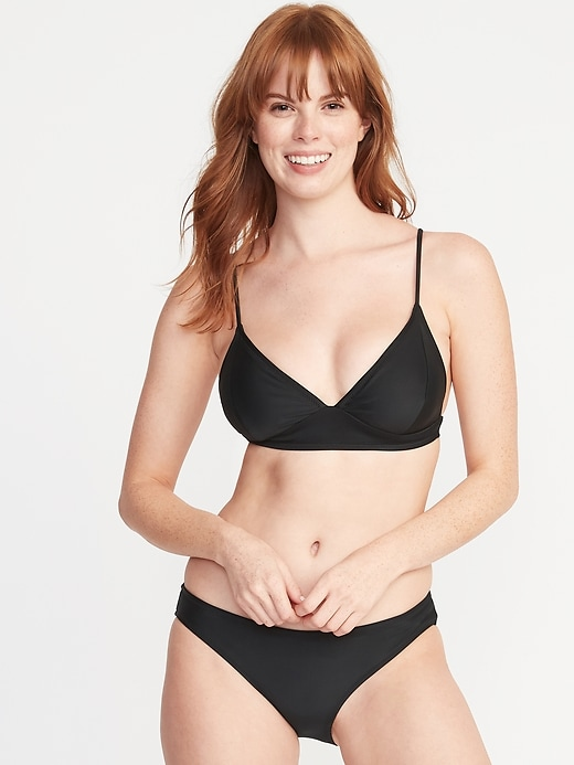 Triangle Bralette Swim Top for Women