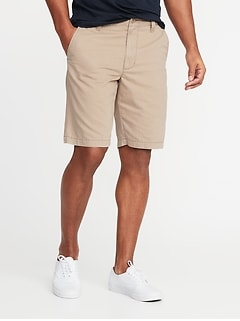 Straight Lived-In Khaki Shorts for Men - 10-inch inseam