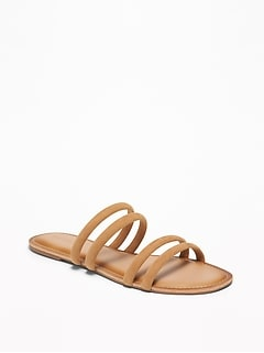 Tubular Faux-Suede Sandals for Women