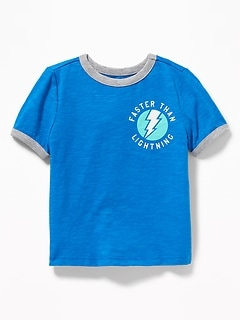 Graphic Ringer Tee for Toddler Boys