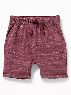 Functional Drawstring U-Shaped Shorts for Toddler Boys