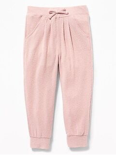 Plush-Knit Joggers for Toddler Girls