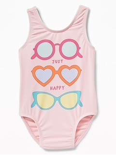 Graphic Swimsuit for Toddler Girls