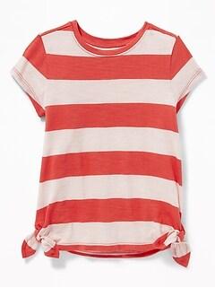 Tie-Hem Scoop-Neck Tunic for Toddler Girls