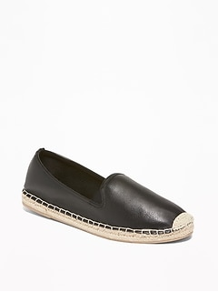 Faux-Leather Espadrilles for Women