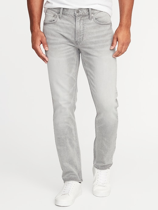 Slim 24/7 Built-In Flex Gray Jeans For Men