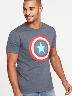 Marvel™ Captain America Graphic Tee for Men