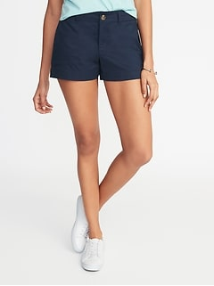 Mid-Rise Twill Everyday Shorts for Women - 3 1/2-inch inseam