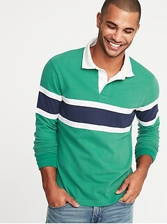 Pieced Color-Block Rugby for Men