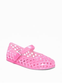 Basket-Weave Jelly Ballet Flats For Toddler Girls