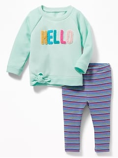 Tunic Sweatshirt & Leggings Set for Baby