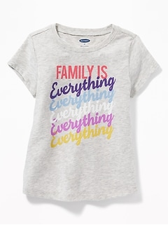 Graphic Scoop-Neck Tee for Toddler Girls