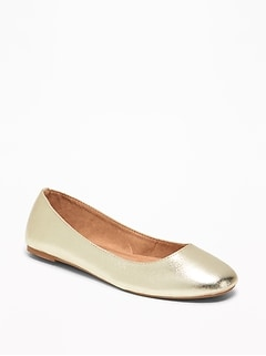 Faux-Leather Ballet Flats for Women