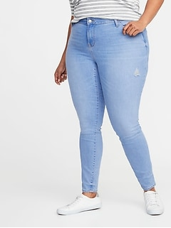 High-Rise Secret-Slim Pockets Rockstar Super Skinny Plus-Size Jeans