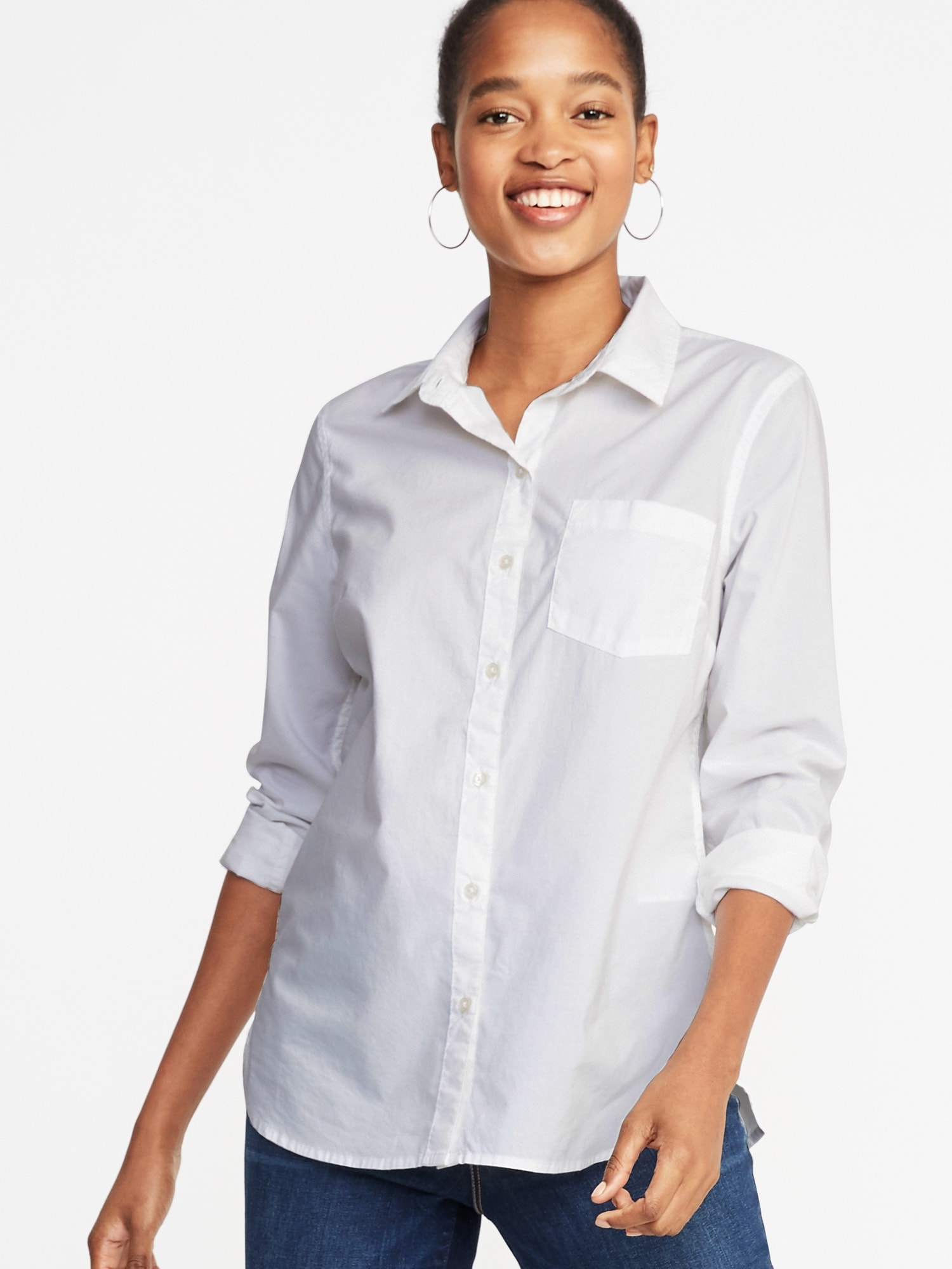 2d9c9242062 Relaxed Classic Clean-Slate Shirt for Women