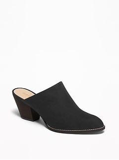Faux-Suede Mule Booties for Women