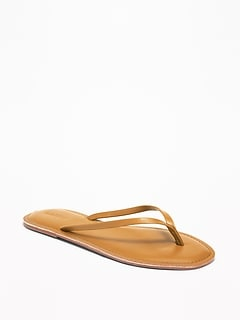Faux-Leather Capri Sandals for Women