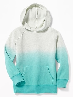 Dip-Dyed Pullover Hoodie for Girls