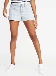 Distressed Boyfriend Denim Shorts for Women - 3-inch inseam
