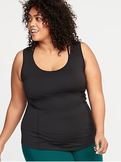 Cross-Back Keyhole Plus-Size Performance Tank