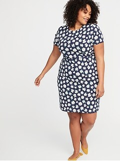 Plus-Size Ponte-Knit Sheath Dress