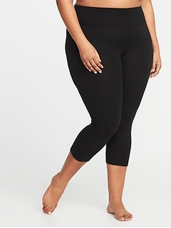High-Waisted Plus-Size Balance Yoga Crops