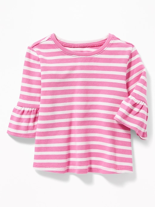 Bell-Sleeve A-Line Top for Toddler Girls