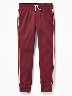 Retro Tipped-Stripe Joggers for Girls