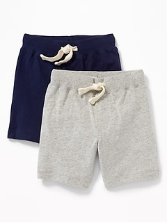 Functional Drawstring Jersey Shorts 2-Pack for Toddler Boys