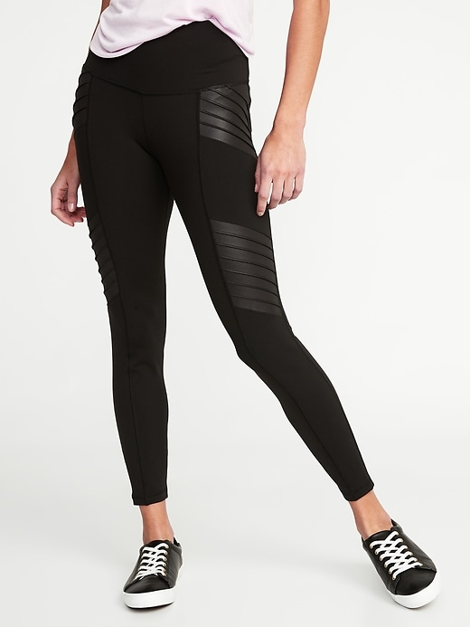 Nlack Moto Compression Leggings