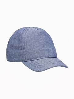 Chambray Baseball Cap for Baby
