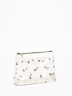 Clear Plastic Bumblebee Cosmetics Bag for Women