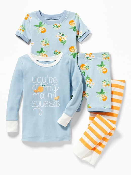 """You'Re My Main Squeeze"" 4-Piece Sleep Set For Toddler & Baby"