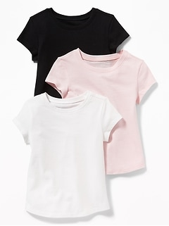 3-Pack Long & Lean Tees for Toddler Girls