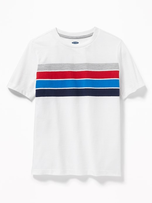 Chest-Stripe Softest Tee for Boys